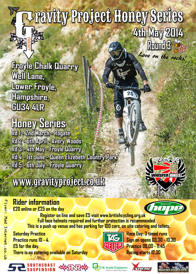 Gravity Project Honey Series RD 3 – This weekend
